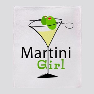 Martini Girl Throw Blanket