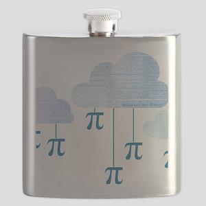 Pi in the Sky Clouds Blue Flask