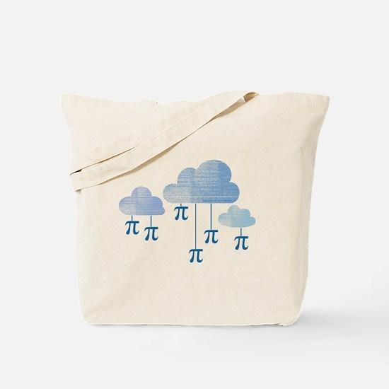 Pi in the Sky Clouds Blue Tote Bag