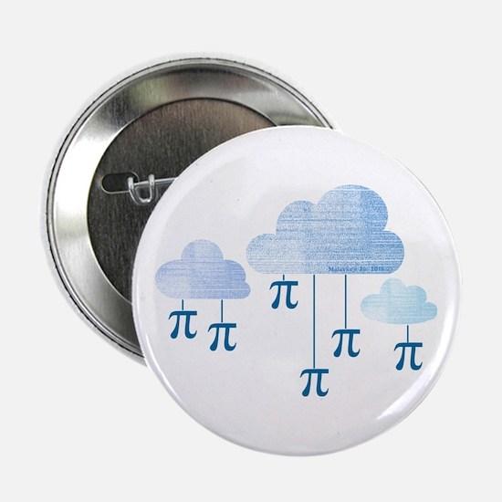 "Pi in the Sky Clouds Blue 2.25"" Button"