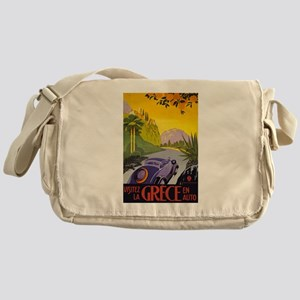 Greece Travel Messenger Bag