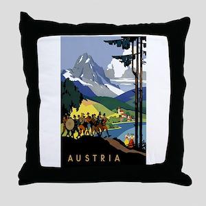 Austria Band Throw Pillow