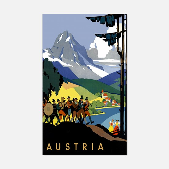Austria Band Sticker (Rectangle)