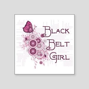 """Martial Arts Girl Square Sticker 3"""" x 3"""""""