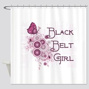 Martial Arts Girl Shower Curtain