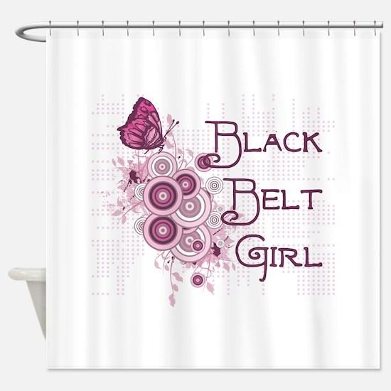 Martial Arts Girl Shower Curtain