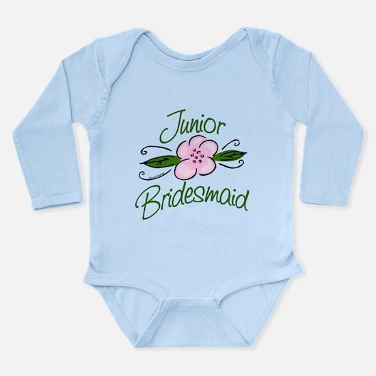 Jr. Bridesmaid Pink Flower Long Sleeve Infant Body
