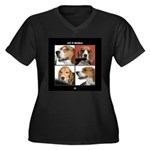 Let It Beagle Women's Plus Size V-Neck Dark T-Shir