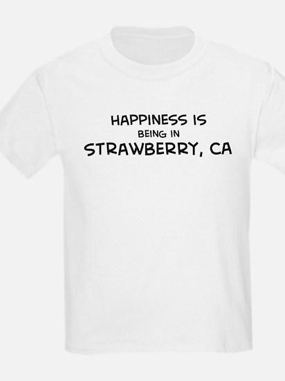 Strawberry - Happiness Kids T-Shirt