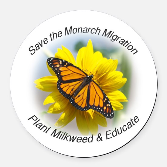 Save the Monarch Round Car Magnet