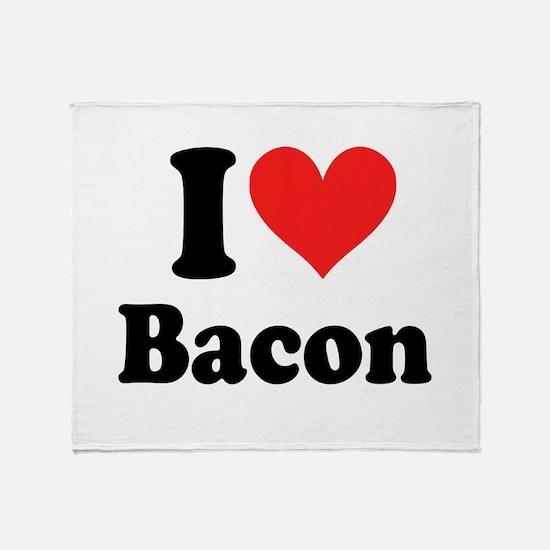 I Heart Bacon Throw Blanket