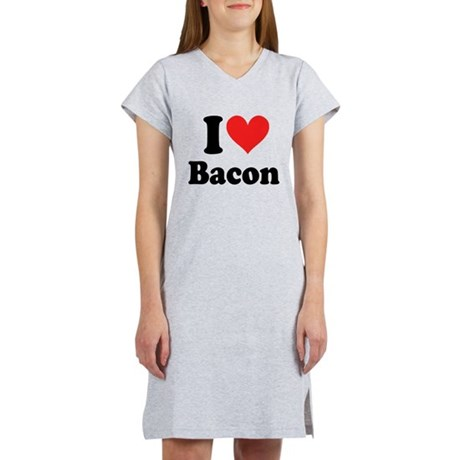 I Heart Bacon Women's Nightshirt