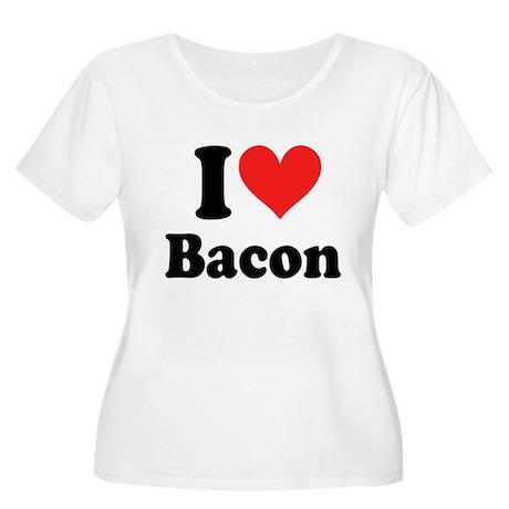 I Heart Bacon Women's Plus Size Scoop Neck T-Shirt