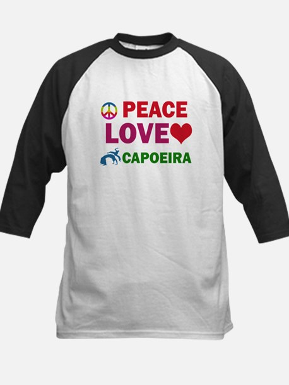 Peace Love Capoeira Designs Kids Baseball Jersey