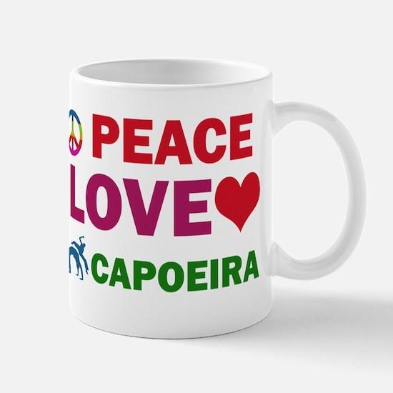 Peace Love Capoeira Designs Mug