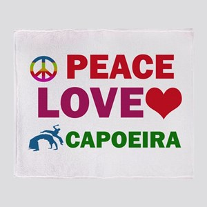 Peace Love Capoeira Designs Throw Blanket