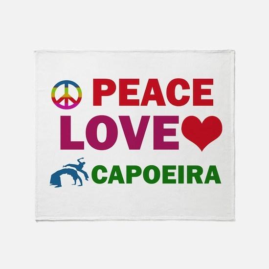 Peace Love Capoeira Designs Throw Blanket