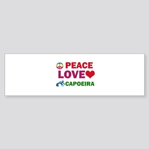 Peace Love Capoeira Designs Sticker (Bumper)