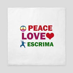 Peace Love Escrima Designs Queen Duvet