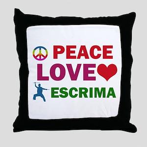 Peace Love Escrima Designs Throw Pillow