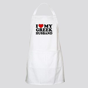 I love My Greek Husband BBQ Apron