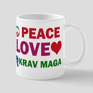 Peace Love Krav maga Designs Mug