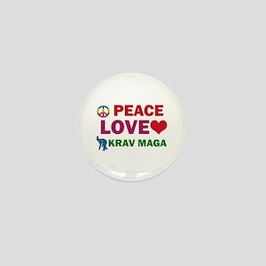 Peace Love Krav maga Designs Mini Button