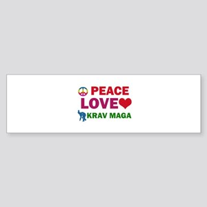 Peace Love Krav maga Designs Sticker (Bumper)