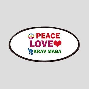 Peace Love Krav maga Designs Patches