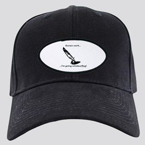 Screw Work, I'm Going Windsurfing Black Cap