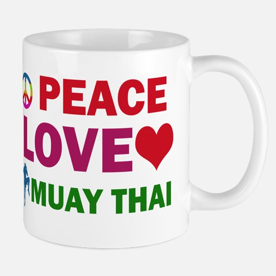 Peace Love Muay Thai Designs Mug