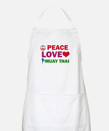 Peace Love Muay Thai Designs Apron