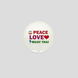 Peace Love Muay Thai Designs Mini Button
