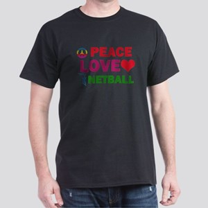 Peace Love Netball Designs Dark T-Shirt