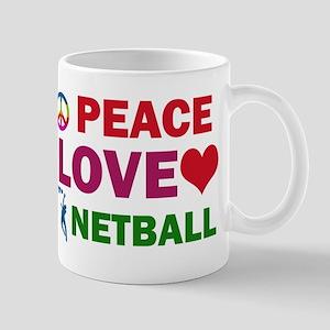 Peace Love Netball Designs Mug