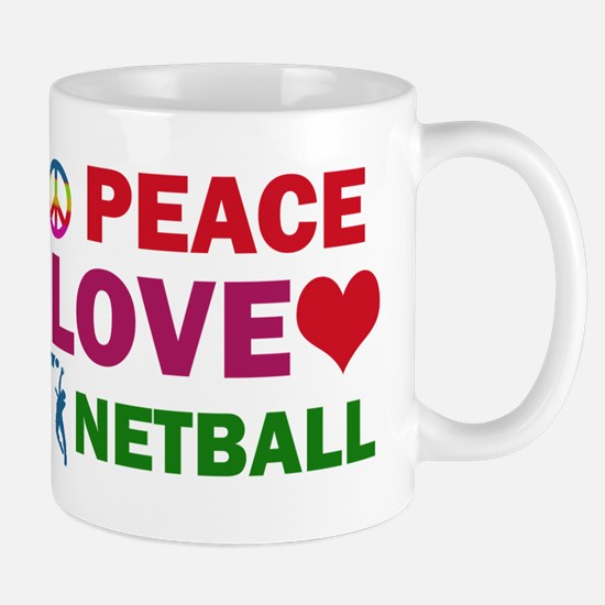Peace Love Netball Designs Mug