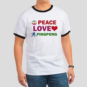 Peace Love Pingpong Designs Ringer T