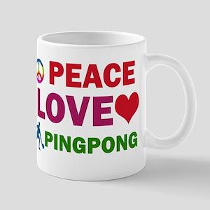 Peace Love Pingpong Designs Mug