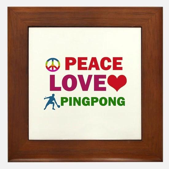 Peace Love Pingpong Designs Framed Tile