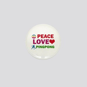 Peace Love Pingpong Designs Mini Button