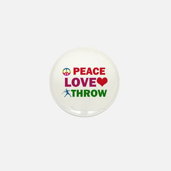 Peace Love Throw Designs Mini Button