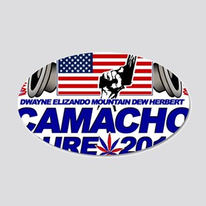 CAMACHO / NOT SURE - CAMPAIGN 2012 20x12 Oval Wall