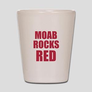 Moab rocks red Shot Glass