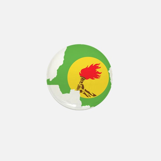 Zaire Flag and Map Mini Button