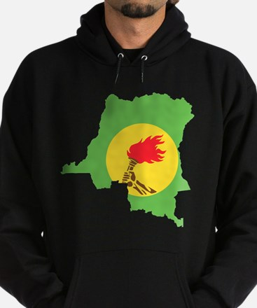 Zaire Flag and Map Hoodie (dark)