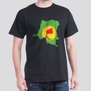 Zaire Flag and Map Dark T-Shirt