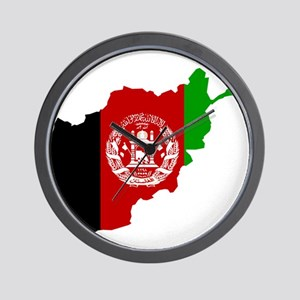 Afghanistan Flag and Map Wall Clock