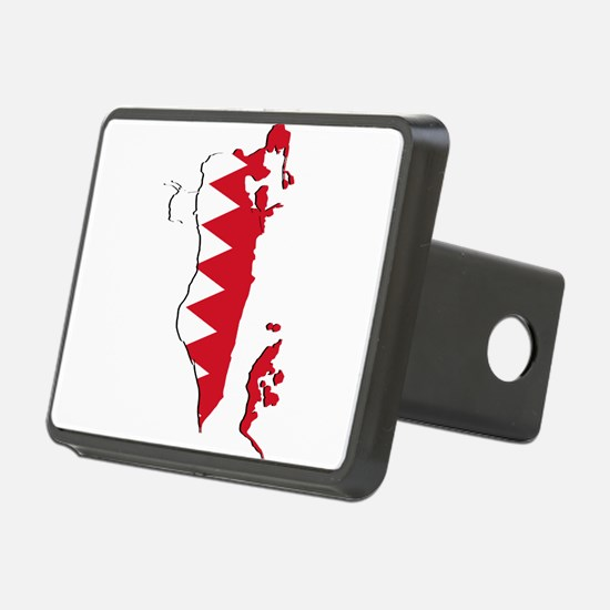 Bahrain Flag and Map Hitch Cover