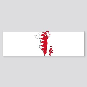 Bahrain Flag and Map Sticker (Bumper)