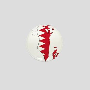 Bahrain Flag and Map Mini Button